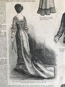 Rare 1870 S Sewing Patterns Tracings Mode Universelle September 16 1878 Ball