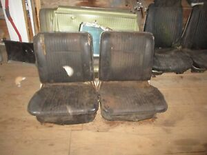 1964 65 Chevrolet Chevelle Gto Gs 442 Bucket Seat Set For Parts Or Resto