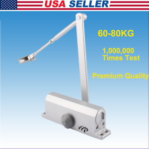Aluminum Commercial Door Closer Two Independent Valve Control Heavy Duty 60 80kg