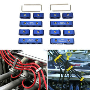 Spark Plug Wire Separator Blue Wire Separator Universal 12pcs For 8 9 10mm