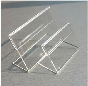86 Acrylic L shaped Label Display Stand 3 x 4