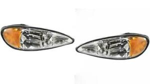 Headlights For Pontiac Grand Am 1999 2000 2001 2002 2003 2004 2005 Pair