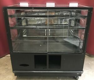 48 Dry Glass Bakery Display Case Donut Bagel Bread Cabinet Retail Rack 8868