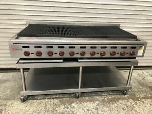 60 Radiant Charbroiler Grill Gas Wolf Acb60 9559 Commercial Burger Steak Nsf