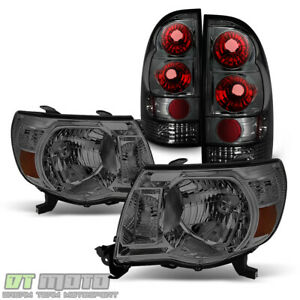 For Smoked 2005 2011 Toyota Tacoma Pre runner Headlights tail Lights Lamps 05 11