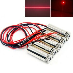 5x Focusable Dot Line 650nm 50mw Laser Module Red Diode 5v Driver Cable 12x35mm