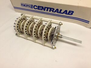 Nos Centralab 2 17 Pos 4 Pol Non Shorting Rotary Switch Jv 9013 Heavy Duty
