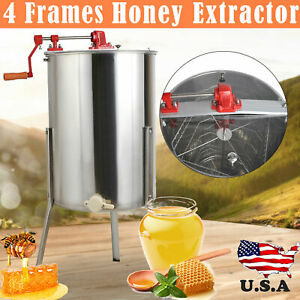 4 Frame Honey Extractor Centrifuge cover Beekeeper Supply Tool Equipment Ss