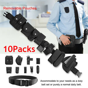 10pcs Multifunction Tactical Security Police Guard Duty Belt Utility Kits