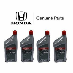 4x Genuine Honda Acura Atf Dw 1 Automatic Transmission Oil Fluid Accord Civic
