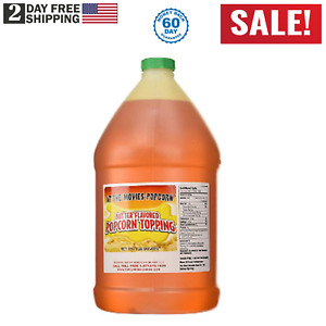 Butter Flavor Popcorn Topping Oil gallon At the movies popcorn Us Seller New