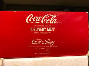 Dept. 56 Snow Village     Coca Cola Delivery Men     Set of 2      NIB