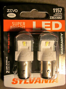 Sylvania Zevo Super Bright White 1157 2057 2357 Led 12v 0 7w 1 7w 2 New Bulbs