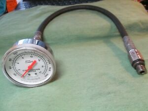 Vintage Sun Compression Tester Usa 0 300 Psi Works On 14mm