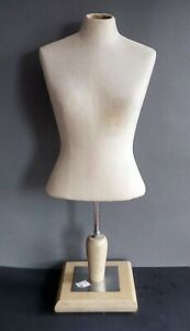 Vintage Female Torso Dress Form Store Display With Stand