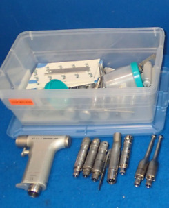 Hall 5059 05 Surgical Pneumatic Sternum Saw W Tons Of Accessories Drill Bits Etc