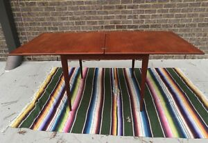 Nils Jonsson Flip Top Mega Dining Table Swedish Teak 60s Mid Century Modern