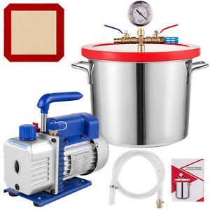 50 L Min Vacuum Chamber And 3 Cfm 2 Gallon Stage Pump To Degassing Silicone Kit