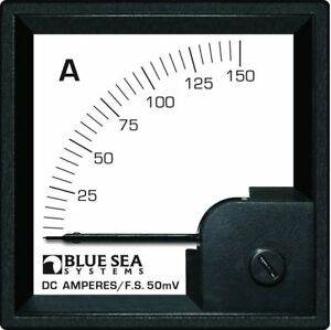 Blue Sea Systems 0 150a Dc Din Ammeter With Shunt