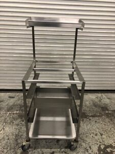 24x30 Bread Batter Cart Food Prep Station All Stainless Steel Nsf B w 9562
