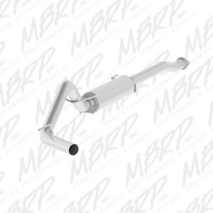Mbrp Al Exhaust Single Side Exit For 16 18 Toyota Tacoma 3 5l