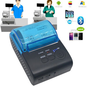 Wireless 58mm Portable Bluetooth Thermal Receipt Printer For Android Mobile Hs1