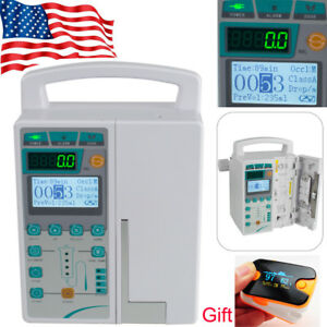Medical Infusion Pump Iv Fluid Equipment With Voice Alarm Monitor Kvo Gift Icu