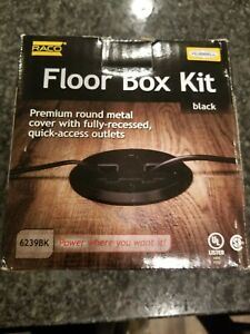 Hubbell raco 6239bk Floor Box Kit Black Finish