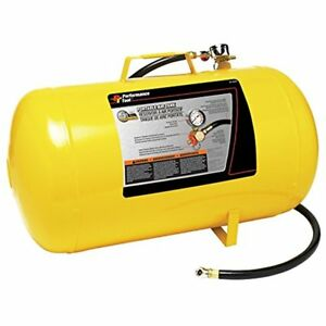 W10005 Hi viz Gauge Sets 5 gallon Horizontal Portable Air Tank With Tire Chuck