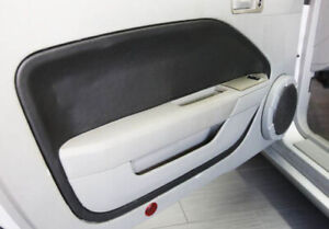 Fits 05 09 Ford Mustang Synthetic Leather Black Padded Door Panel Insert Cards