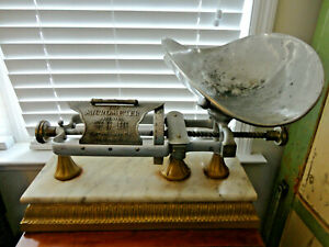1892 1898 1903 Micrometer Scale Marble Base Brass Dodge Mfg Large Counter Mo