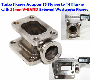 Steel Turbo Manifold Flange T4 To T3 Adapter Conversion W 38mm V band Flange