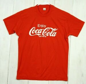Vintage Coca Cola Logo Red T-Shirt on Screen Stars Tag Size XL Coke