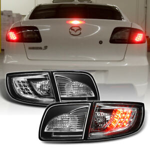 Black 2003 2008 Mazda 3 Mazda3 Lumileds Led Tail Lights Brake Lamps Left right