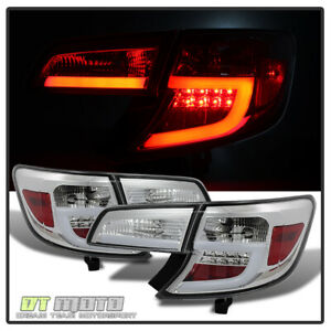 For 2012 2014 Camry Lumileds Led Tail Lights Lamps W Light Bar Pair Set