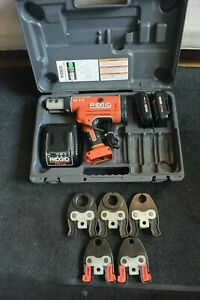 Ridgid Brand Porpress 18v Crimper Set Model Rp210 5 Pex Jaws 1 2 Through 1 1 2