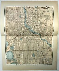 Original 1903 Map Of Minneapolis Minnesota By Dodd Mead Company