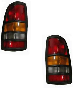 2001 2002 2003 Chevy Gmc 3500 Dually Truck For Tail Lights Pair Silverado Sierra