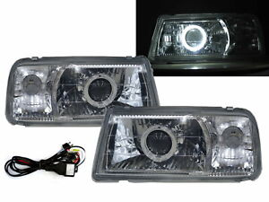 Tracker 88 98 Convertible 2d Guide Led Halo Headlight Chrome V1 For Geo Lhd