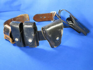 Bianchi B2 Leather Duty Belt Size 28 W holster Clip Holder Hume Cuff Holster