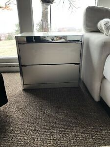Gorgeous Pair Of Ello 70 S Mid Century Glass Nightstands End Tables