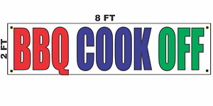 Bbq Cook Off Banner Sign 2x8