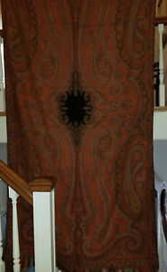 Very Nice Antique Paisley Wool Long Shawl With 7 Colors