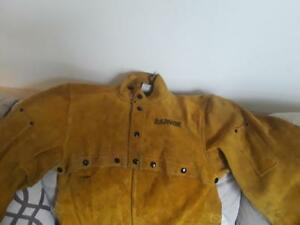 Radnor 3120 Size large Heavy Weight Leather Welding Jacket Sleeves And Bib