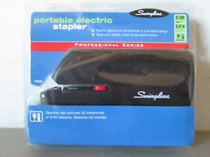 Swingline Portable Electric Stapler full Strip 20 sheet Capacity black 48200 New