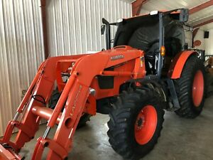 Kubota M135gx Utility Tractor Enclosed Cab Extremely Clean With Loader 135hp