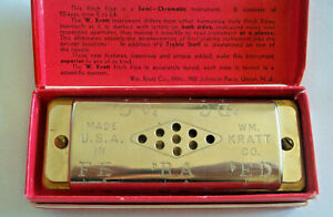 Vintage Musical Instrument W Kratt Chromatic Pitch Pipe In Orig Box U S A