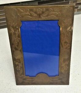 Vintage Brass Traditions Co Signed Photo Frame 5x7 Shells Underwater Theme