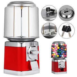 All Metal Bulk Vending Gumball Candy Machine 25 Vend Accepts Quarters Only