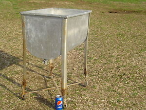 Lpu Vintage Ever Ready Wash Tub Galvanized With Stand Antique Laundry Clothes